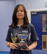 Vicky with her trophy