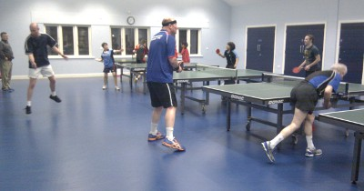 playing table-tennis at club night